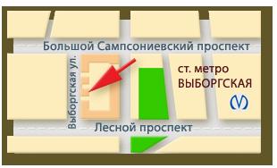 Клиника РАОМед: схема проезда
